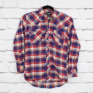 Paul-Andre Flannel Long Sleeve Button Up Shirt M